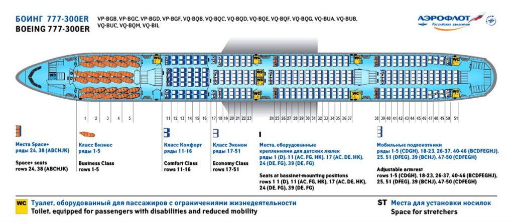 Боинг 777-300 ER комфорт класса