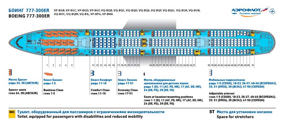Боинг 777-300 авиакомпании Аэрофлот