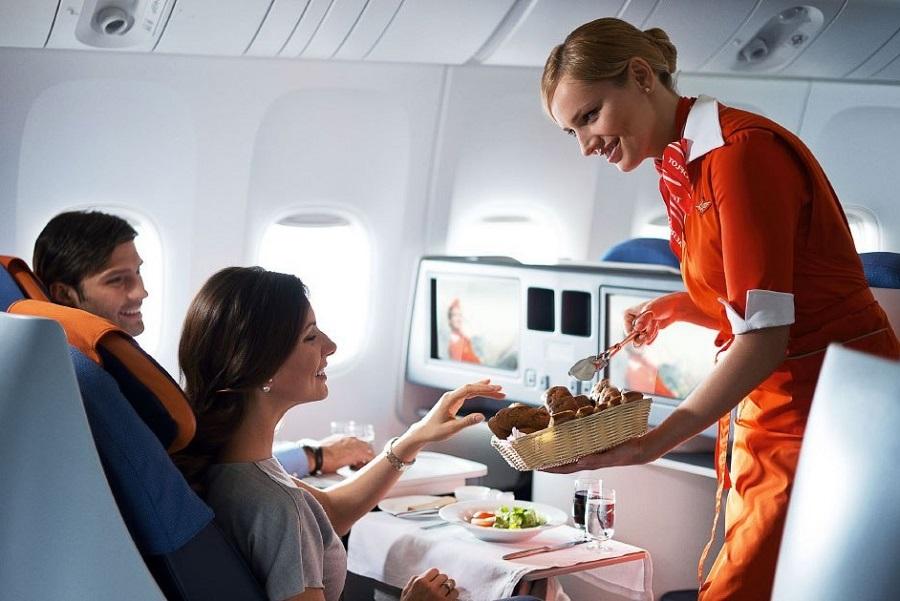 Питание пассажиров в самолете Аэрофлота