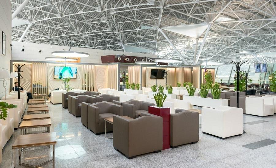 Зал отдыха в терминале аэропорта Внуково